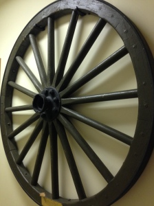This wheel was taken from the caisson of the first gun fired by the men of the 151st Field Artillery near the Lorraine Front in February 1918. Just one of the many artifacts you can see at the Minnesota Military Museum.